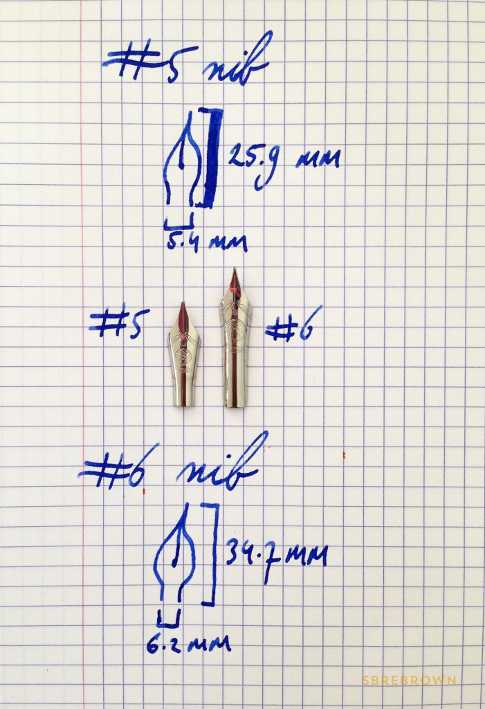 Sizing #5 And #6 Nibs