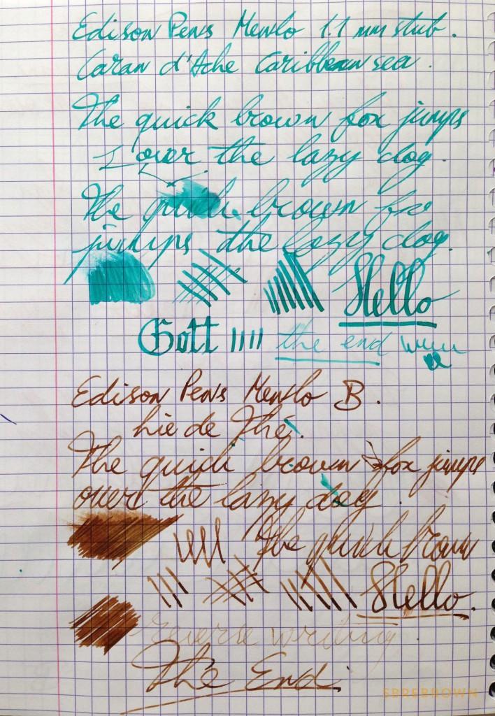 Edison Pen Co. Menlo - Acrylic & Ebonite Fountain Pens (6)