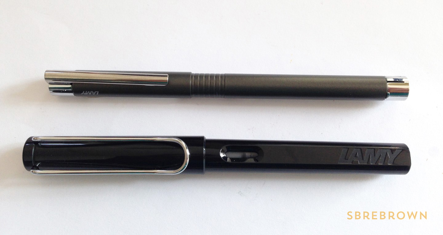 SB. Lamy Logo Cliff Grey Fountain Pen Review (2)