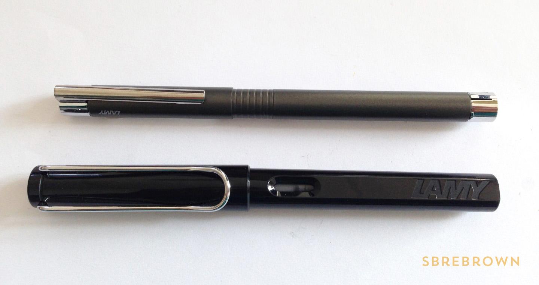 SB. Lamy Logo Cliff Grey Fountain Pen Review (2)