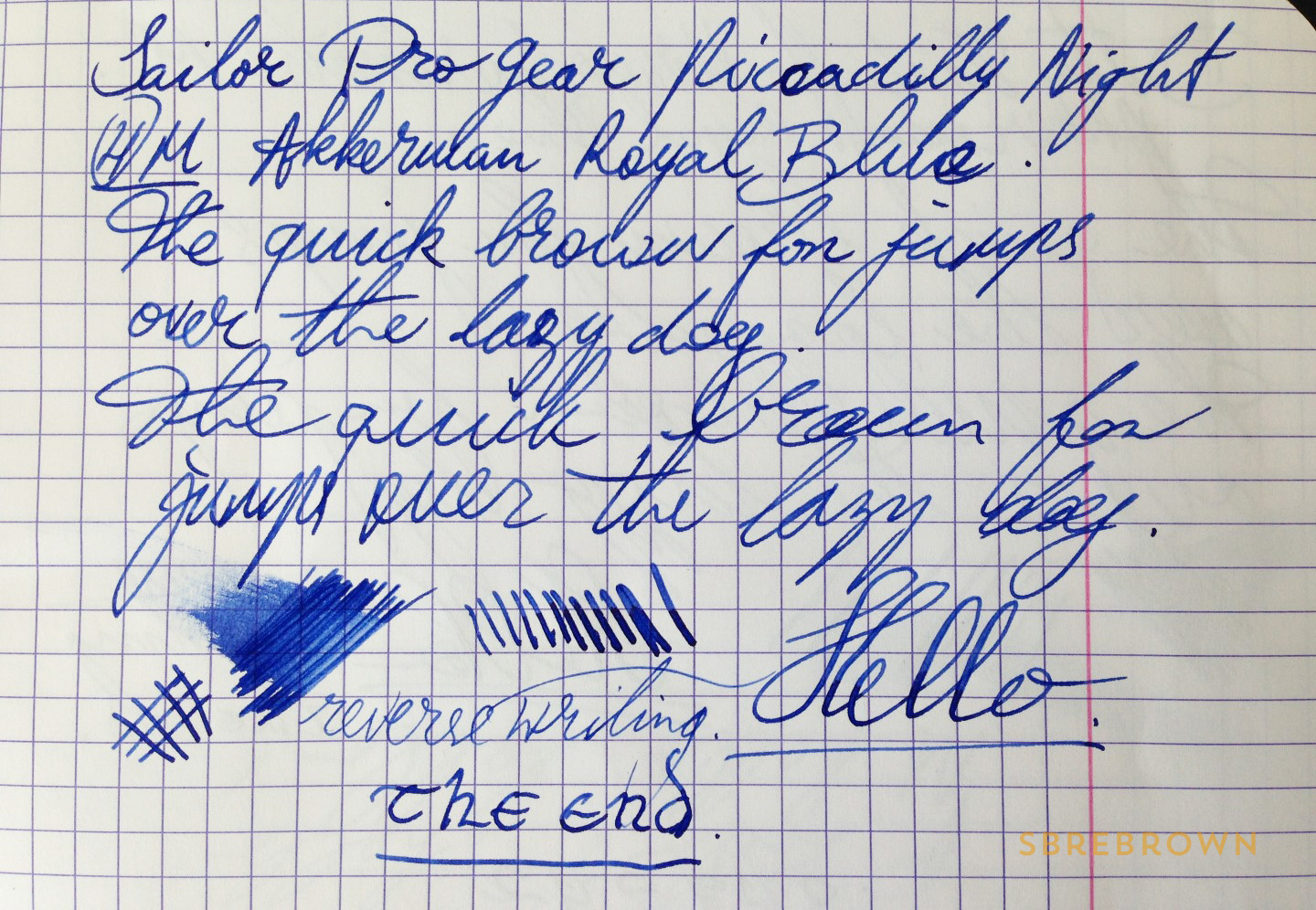 SB. Sailor Pro Gear Piccadilly Nights FP Review (1)
