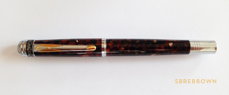 Hua Hong Brown Marble Fountain Pen Review (2)
