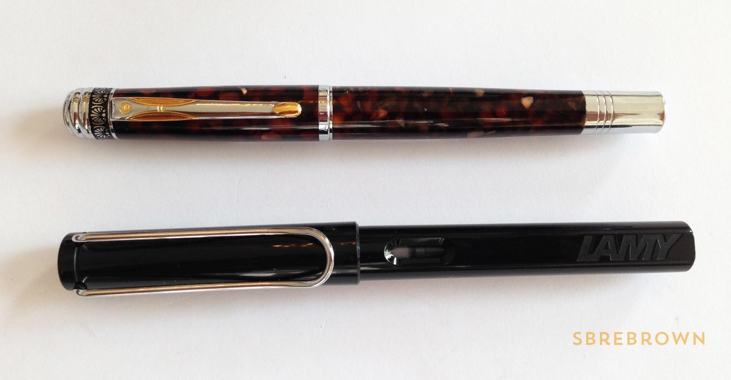 Hua Hong Brown Marble Fountain Pen Review (3)