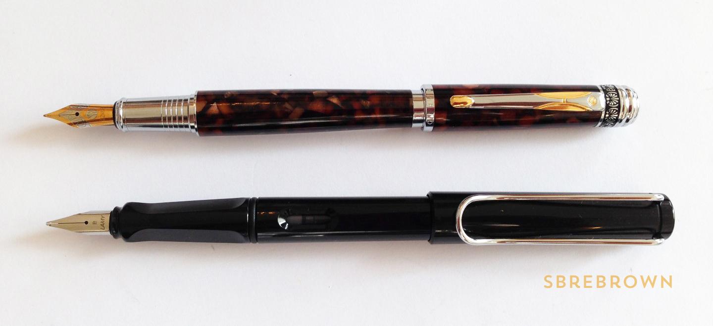 Hua Hong Brown Marble Fountain Pen Review (5)