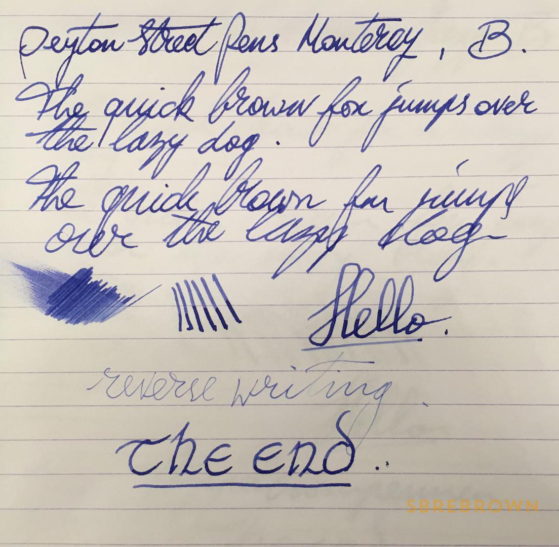 Peyton Street Pens Monterey Fountain Pen Review