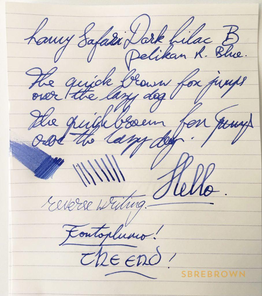 Lamy Safari Dark Lilac Fountain Pen Review