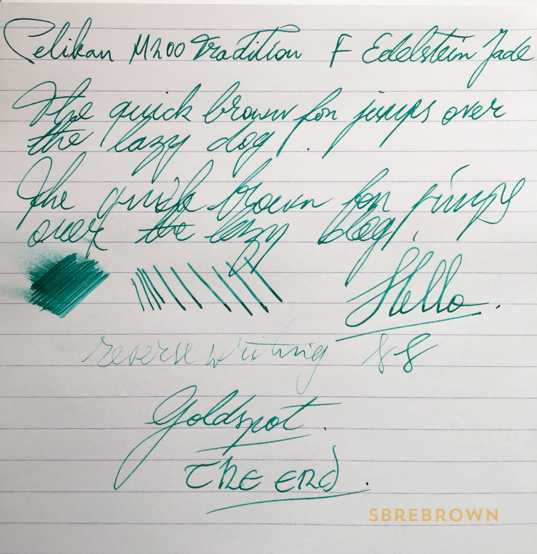 Pelikan M200 Tradition Green Marble Fountain Pen Review