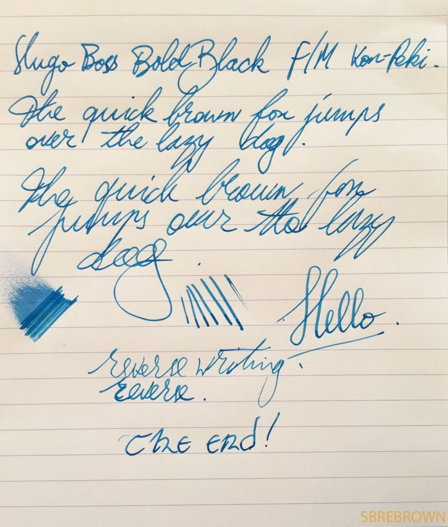 Hugo Boss Bold Black Fountain Pen Review 1