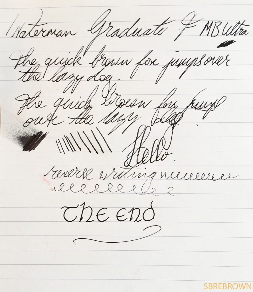 Waterman Graduate Fountain Pen Review