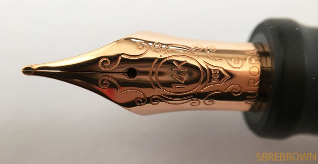 Aurora 88 Black Satin Rose Gold Fountain Pen Review