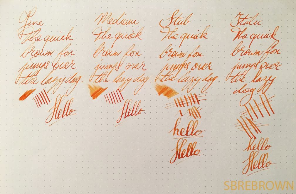 Aurora Fountain Pen Nibs Overview