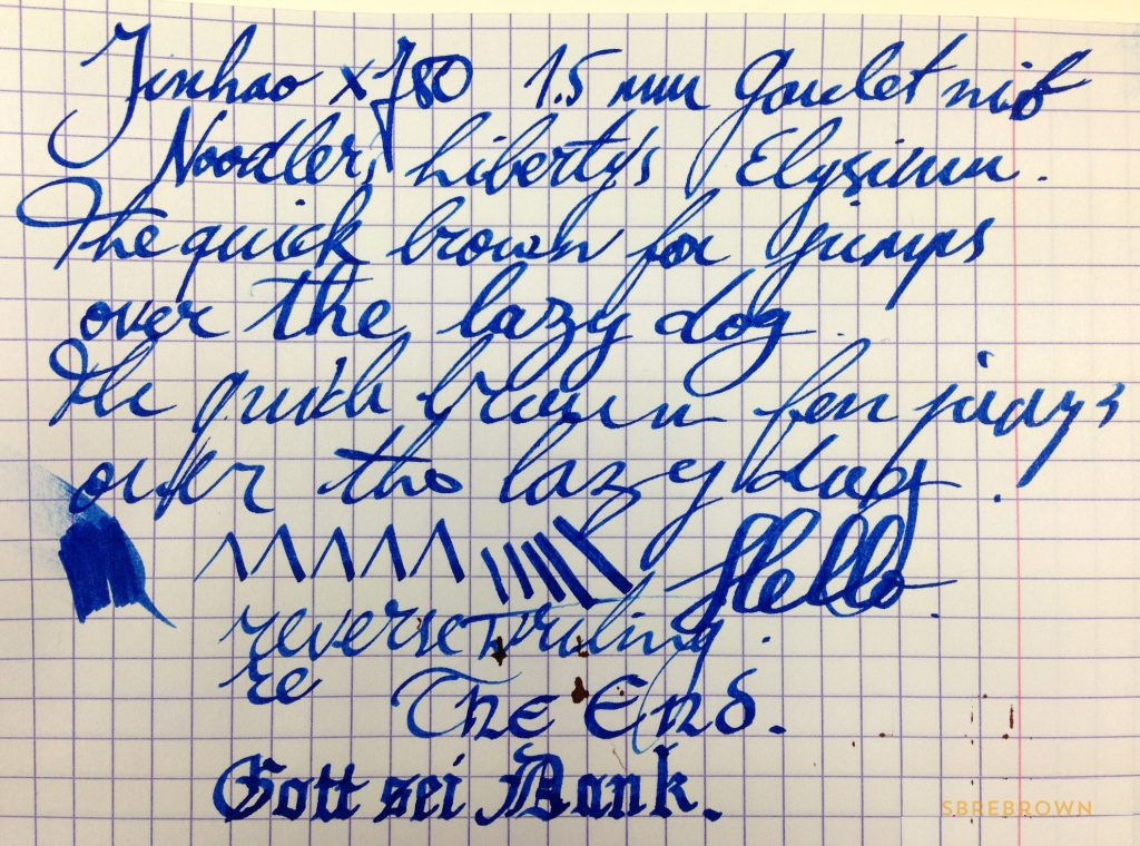 Goulet Pens 1.5 mm Stub Nib Review