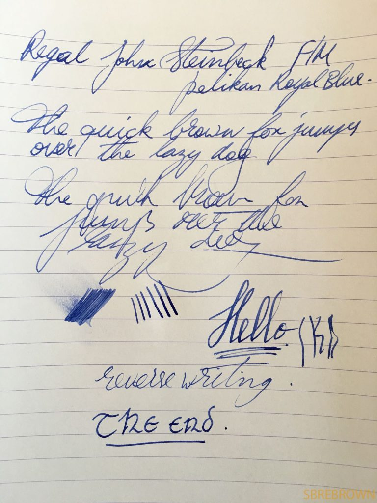 Regal John Steinbeck Matte Black Fountain Pen Review 1