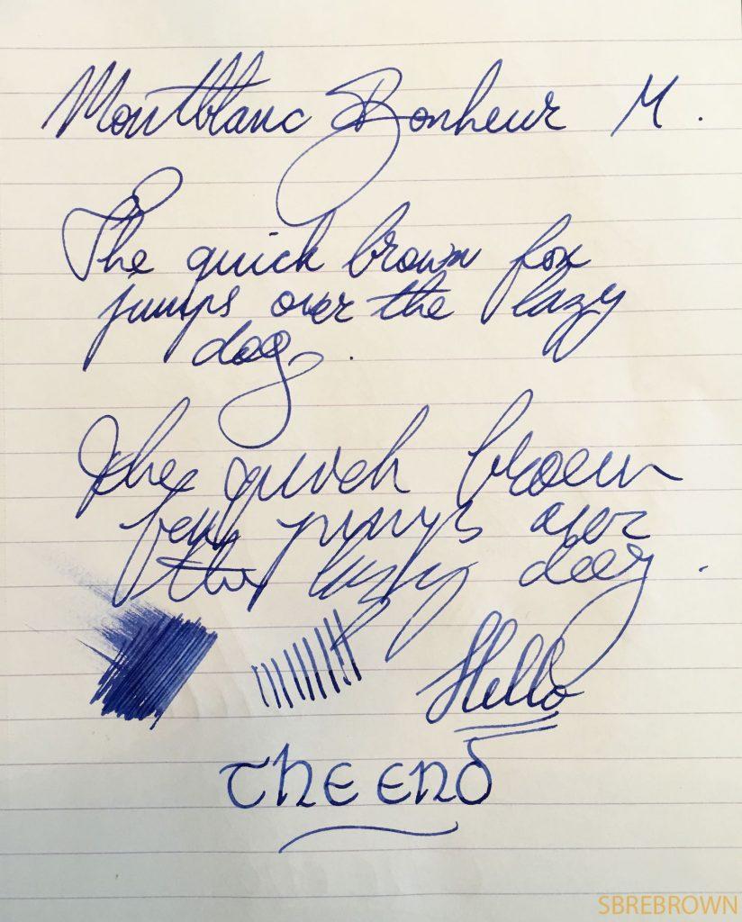 Montblanc Bonheur Fountain Pen Review