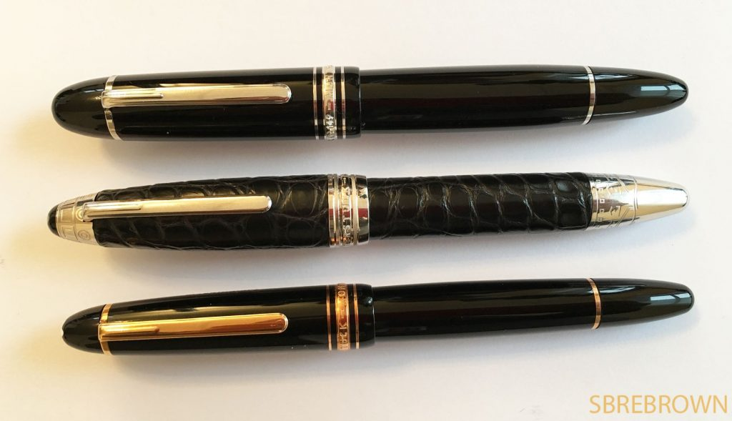 Fountain Pen Shootout Montblanc Meisterstücks 146 vs. 149 vs. Masters for Meisterstück Firenze