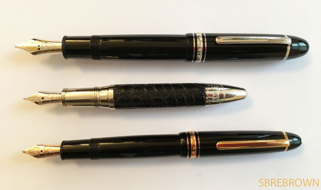 Fountain Pen Shootout Montblanc Meisterstücks 146 vs. 149 vs. Masters for Meisterstück Firenze